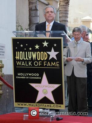 Leslie Moonves and Star On The Hollywood Walk Of Fame