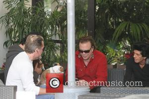 Mickey Rourke meets friends for coffee in Beverly Hills Beverly Hills, California - 03.12.11