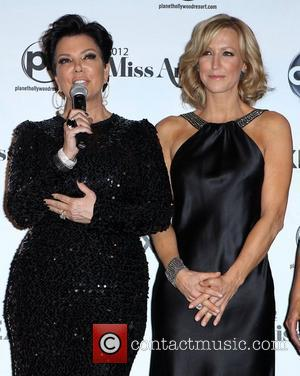 Kris Jenner and Lara Spencer 2012 Miss America Pageant Winner News Conference at Planet Hollywood Resort and Casino  Las...