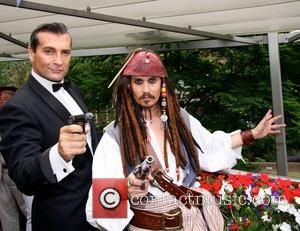 Johnny Depp and Sean Connery lookalikes at the Motcomb Street Party London, England - 27.06.12