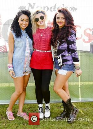 Leigh-Anne Pinnock, Perrie Edwards and Jesy Nelson of Little Mix at Nando's GigNics at Haggerston Park London, England - 09.06.12...