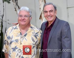 Randy Newman and Neil Diamond Neil Diamond is honoured with a star on the Hollywood Walk of Fame Los Angeles,...