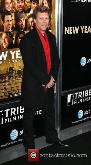 Jon Bon Jovi,  New York premiere of 'New Year's Eve' at the Ziegfeld Theatre - Arrivals New York City,...