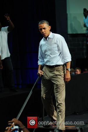 U.S. President Barack Obama speaks at a campaign grass roots event at Palm Beach County Convention Center  West Palm...