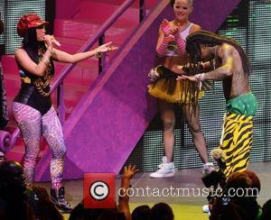 Nicki Minaj and Lil Wayne performing live on the Nicki Minaj Tour at James L Knight Center  Miami, Florida...