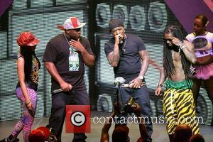 Nicki Minaj, Mack Maine, Birdman and Lil Wayne performing live on the Nicki Minaj Tour at James L Knight Center...