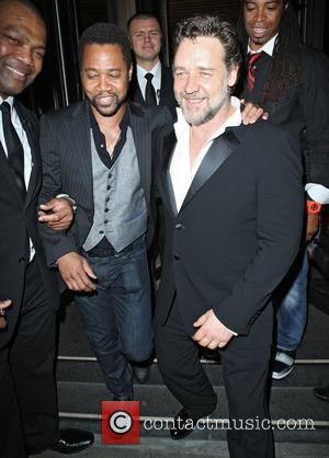 Russell Crowe and Cuba Gooding Jr leaving Novikov restaurant. London, England - 24.05.12