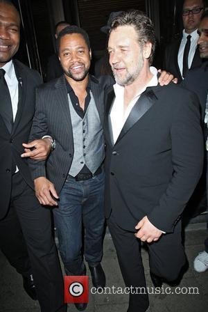 Russell Crowe and Cuba Gooding Jr leaving Novikov restaurant. London, England - 24.05.12