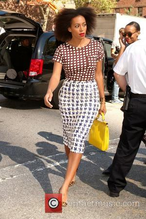 Solange Knowles Mercedes-Benz New York Fashion Week Spring/Summer 2013- Celebrity Sightings New York City, USA - 11.09.12