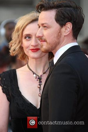 Anne-Marie Duff and James McAvoy The Olivier Awards 2012 held at the Royal Opera House- Arrivals London, England - 15.04.12