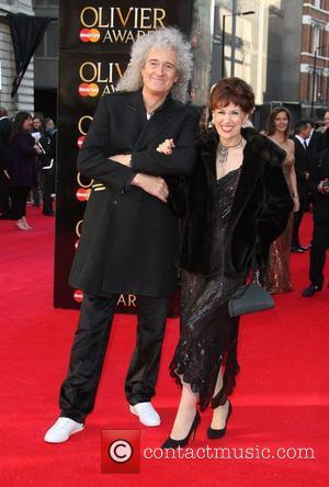 Brian May and Anita Dobson The Olivier Awards 2012 held at the Royal Opera House- Arrivals London, England - 15.04.12