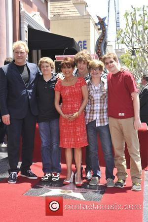Patricia Heaton, David Hunt, sons Patricia Heaton is honored with a Hollywood Walk of Fame Star on Hollywood Blvd Hollywood,...
