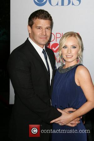 David Boreanaz and Jaime Bergman 2012 People's Choice Awards held at Nokia Theatre L.A. Live - Arrivals Los Angeles, California...