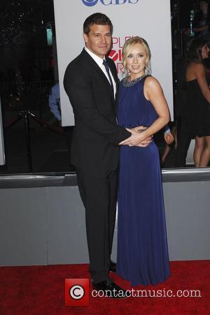 David Boreanaz, Jaime Bergman  2012 People's Choice Awards - Arrivals held at the Nokia Theatre L.A. Live Los Angeles,...