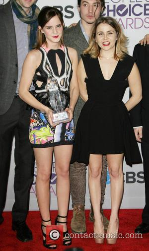 Emma Watson; Mae Whitman The Peoples Choice Awards 2013 held at Nokia Theatre L.A. Live - Press Room  Featuring:...