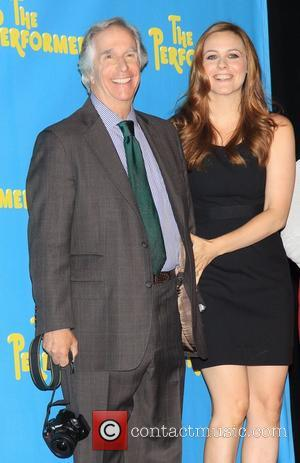 Henry Winkler and Alicia Silverstone Meet and greet with the cast of the Broadway comedy 'The Performers' held at the...