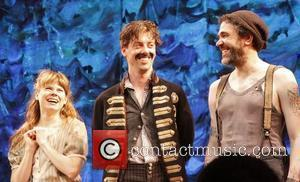 Celia Keenan-Bolger, Christian Borle and Kevin Del Aguila Christian Borle's last performance as Black Stache in the Broadway play 'Peter...
