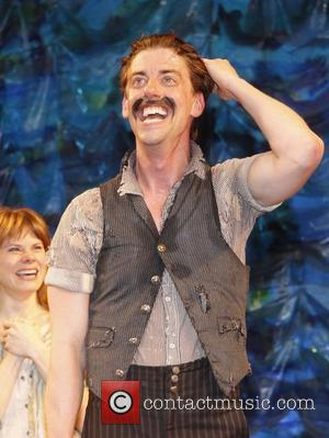 Christian Borle Christian Borle's last performance as Black Stache in the Broadway play 'Peter and the Starcatchers' at the Brooks...