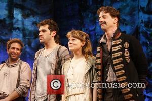 David Rossmer, Adam Chanler-Berat, Celia Keenan-Bolger and Christian Borle Christian Borle's last performance as Black Stache in the Broadway play...