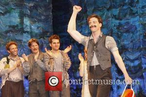 David Rossmer, Rick Holmes, Adam Chanler-Berat and Christian Borle Christian Borle's last performance as Black Stache in the Broadway play...