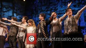 Rick Holmes, Adam Chanler-Berat, Celia Keenan-Bolger, Christian Borle, Kevin Del Aguila and Carson Elrod Christian Borle's last performance as Black...