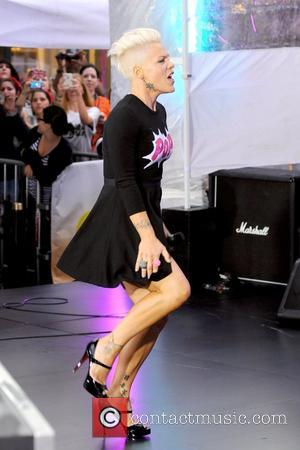 Pink, aka Alecia Moore, performs at Rockefeller Center as part of NBC's Toyota Concert Series on the 'Today' show New...