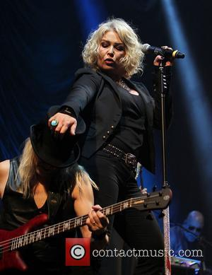 Kim Wilde performing live on stage at QuoFestive at the O2 Arena. London, England - 11.12.11