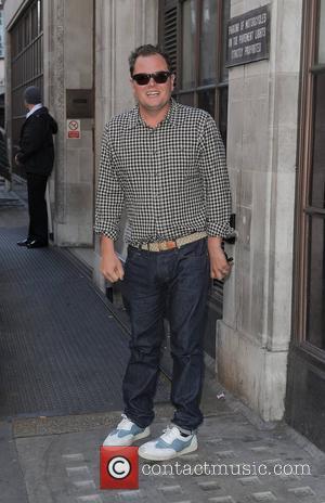 Alan Carr at the Radio 1 studios. London, England - 12.09.12