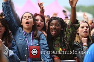 Ed Sheeran fans at BBC Radio 1's Hackney Weekend held at Hackney Marshes - Day 1 London, England - 23.06.12