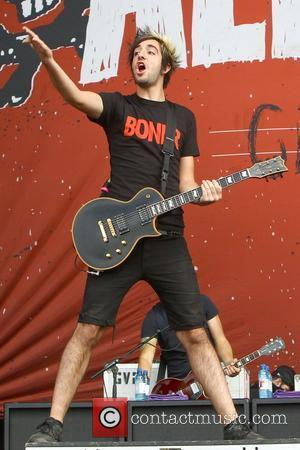 Jack Barakat, of All Time Low Reading Festival 2012 - Performances - Day Three Reading, England - 26.08.12