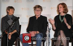 Robert Redford, Laura Skandera Trombley and Guest Pitzer College honors actor Robert Redford with the new 'The Robert Redford Conservancy'...