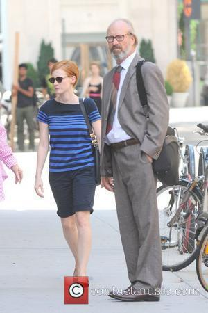 Jessica Chastain and William Hurt shoot scenes for 'The Disappearance of Eleanor Rigby: Hers ' in Manhattan New York City,...