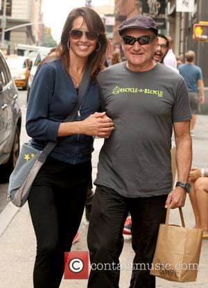 Susan Schneider and Robin Williams Robin Williams is all smiles while out and about in SoHo with his wife New...