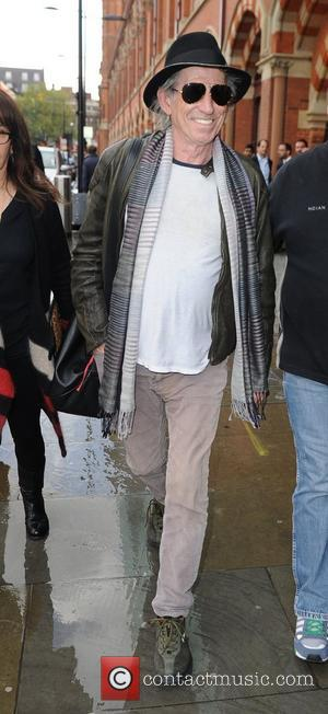 Keith Richards The Rolling Stones arrive at Kings Cross Station without frontman Mick Jagger  London, England - 17.10.12