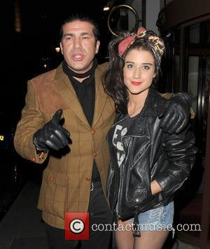 Tamer Hassan and Katie Waissel leave the Sanctum Soho hotel London, England - 21.01.12