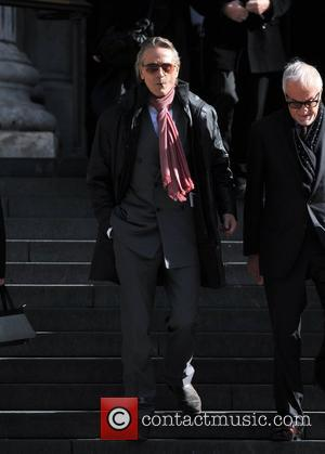 Jeremy Irons Memorial Service for Vidal Sassoon held at St. Paul's Cathedral - Departures. London, England - 12.10.12
