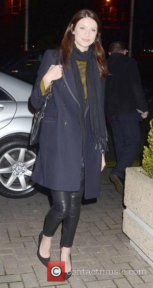 Caitriona Balfe Brian McFadden & wife Vogue Williams and Alex Reid were among guests on The Saturday Night Show in...