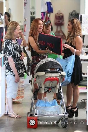 Vanessa White and Una Healy,  of The Saturdays shopping on Robertson Boulevard. They were filming for their reality show...