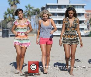 Frankie Sandford, Mollie King and Rochelle Humes of The Saturdays spend the day at the beach. Venice Beach, California -...