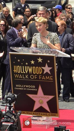 Scarlett Johansson Honored With Star On Hollywood Walk Of Fame