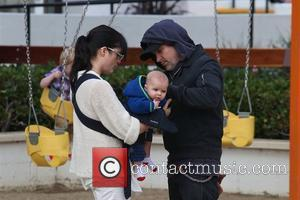 Selma Blair and her husband Ahmet Zappa take their son Arthur to a park in Malibu and then onto Malibu...