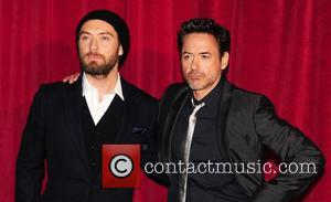 Robert Downey Jr and Jude Law  'Sherlock Holmes: A Game of Shadows' UK film premiere held at the Empire...