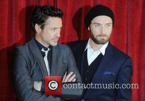 Robert Downey Jr. and Jude Law 'Sherlock Holmes: A Game of Shadows' UK film premiere held at the Empire Leicester...