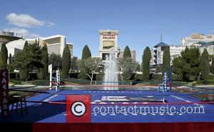 Boxing ring at Caesars Palace for the Muhammad Ali tribute. Las Vegas, Nevada - 16.02.12