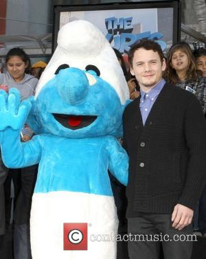 Clumsy Smurf, Anton Yelchin The Smurfs historic hand and footprint ceremony held at Grauman's Chinese Theater Hollywood, California - 13.12.11