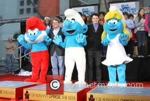 Papa Smurf, Clumsy Smurf, Anton Yelchin, Smurfette The Smurfs historic hand and footprint ceremony held at Grauman's Chinese Theater Hollywood,...