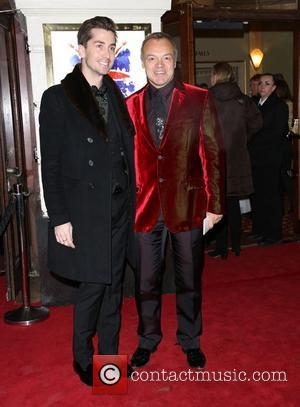 Graham Norton with his partner Trevor Patterson VIVA Forever Spice Girls the Musical held at the Piccadilly Theatre- Arrivals London,...