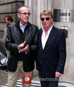 Francis Rossi and Rick Parfitt of Status Quo outside the BBC Radio 2 studios London, England - 01.11.12