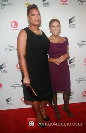 Dana Elaine Owens (Queen Latifah) and Rita Owens attends the world premiere of the Lifetime Original Movie Event, Steel Magnolias...