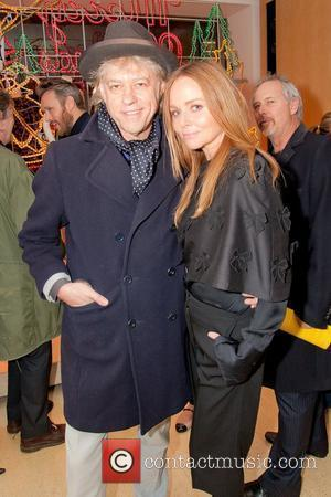 Bob Geldof and Stella McCartney Stella McCartney store Christmas Lighting. London, England - 29.11.11  This is a PR photo....